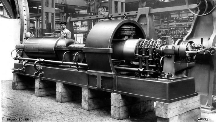 Die erste BBC-Dampfturbine, die 1901 auf den Markt kam
