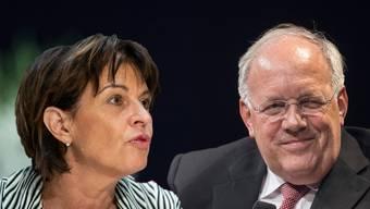 Leuthard fühle sich von Schneider-Ammann unter Druck gesetzt, heisst es von gut informierten Politikern.