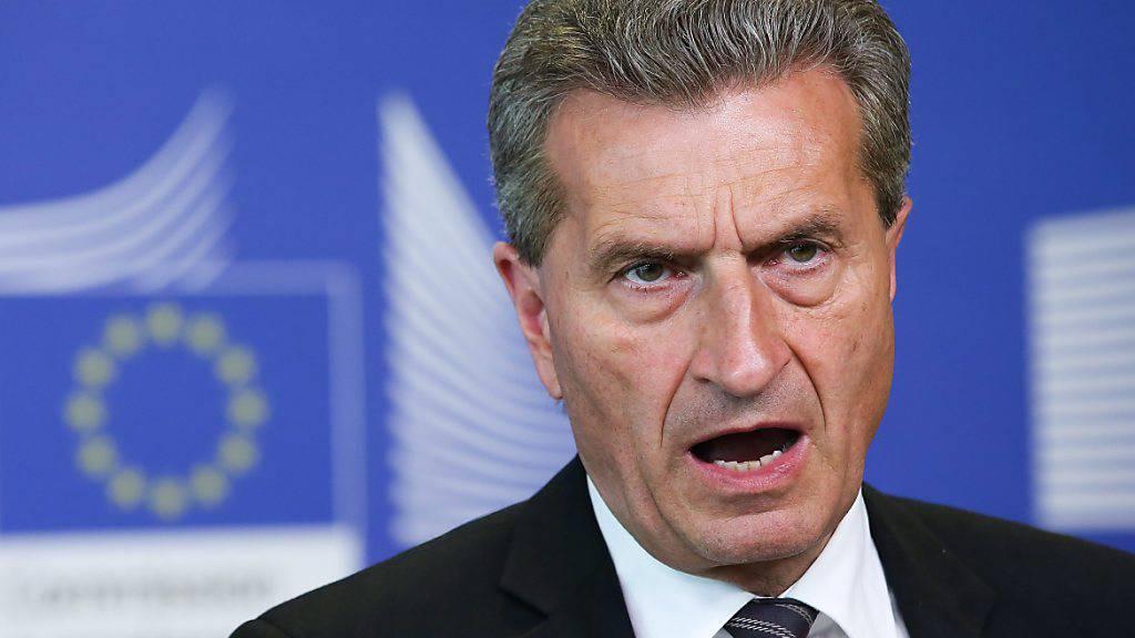 Früherer EU-Kommissar sieht Rahmenvertrag Schweiz-EU nicht vor 2021