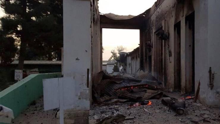 Ein Teil der zerstörten Klinik in Kundus: Das US-Verteidigungsministerium hat angekündigt, den Wiederaufbau finanziell unterstützen zu wollen. (Archivbild)