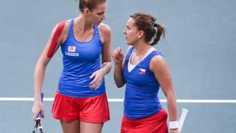 Karolina Pliskova und Barbora Strycova sicherten Tschechien den entscheidenden Punkt im Doppel