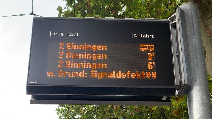 Signalstörung bei den Trams am Bankverein.