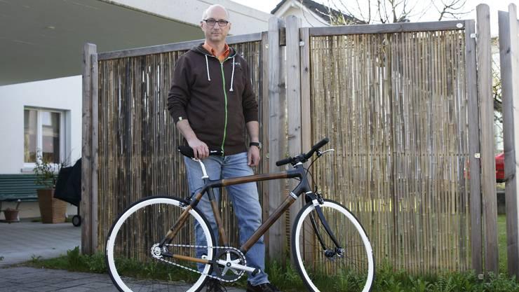 Jedes Onncycle-Bambusvelo, das Ralph Hahn herstellt, ist ein Unikat.