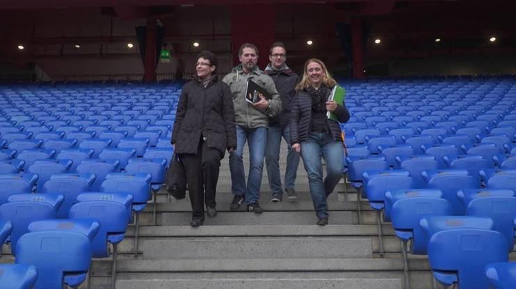 Barbara Bigler, Beat Meier, Michael Widmer und Doris Keller bilden seit eineinhalb Jahren das lokale Organisationskomitee für den Europa-League-Final in Basel.
