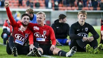 Comeback: FCA-Verteidiger Marco Thaler (r.) soll im Test gegen Schöftland nach langer Verletzungspause zu einem Teileinsatz kommen.