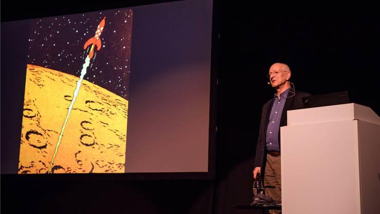 «Schon 1954 war ich als 10-Jähriger von den Weltraumabenteuern von Tim und Struppi fasziniert»: Astronaut Claude Nicollier.