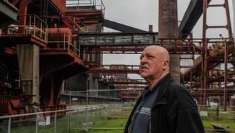 AfD-Mann Rolf Ploetzing in einer stillgelegten Zeche in Essen: Viele Kohle-Kumpel im «Pott» haben ihre Jobs verloren.