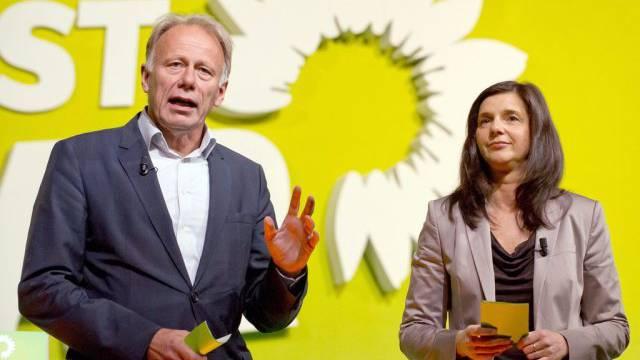 Jürgen Trittin und Katrin Göring-Eckardt von den Grünen (Archiv)
