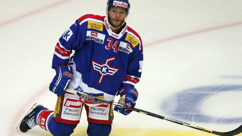 Kloten Flyers Verteidiger Rene Back zeigt seine Enttäuschung