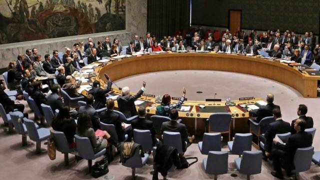 Blick auf den UNO-Sicherheitsrat während der Syrien-Debatte