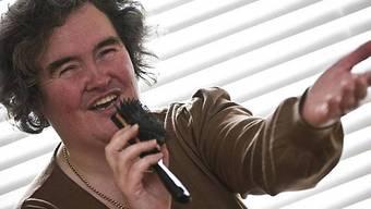 Bürste als Mikrofon: Susan Boyle