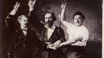 Franz Josef Schild (mitte) war ein beliebter Doktor in Grenchen.