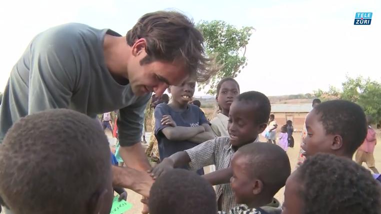 Roman Wasik in Malawi bei Roger Federer Foundation