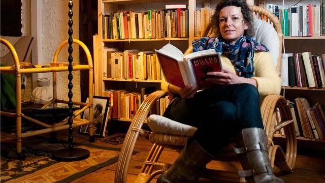 Milena Moser, Buchautorin mit Atelier in Aarau.Foto: Annika Buetschi - az