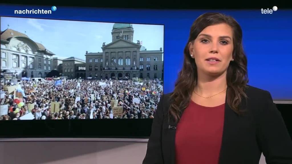 Klimademo in Bern