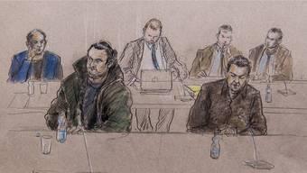 Wesam A. (l.) am Prozess im Bundesstrafgericht in Bellinzona.