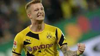 Torschütze Marco Reus jubelt über das 1:0 von Borussia Dortmund