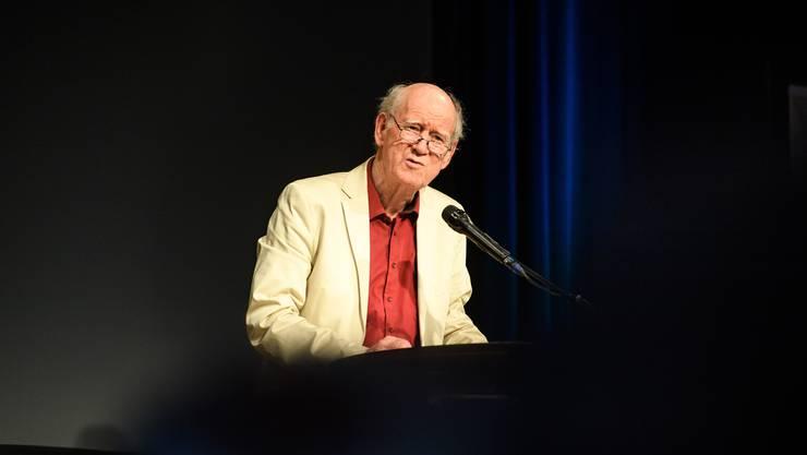 Am Eröffnungsanlass zu den 40. Solothurner Literaturtagen stand auch Franz Hohler am Rednerpult.