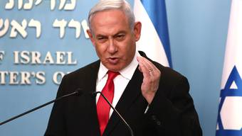 Glück im Unglück für Israels Regierungschef Benjamin Netanjahu. (Bild: Keystone)
