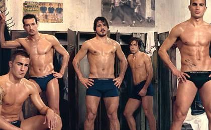 Gennaro Gattuso (Mitte) in einer Dolce & Gabbana-Werbung.