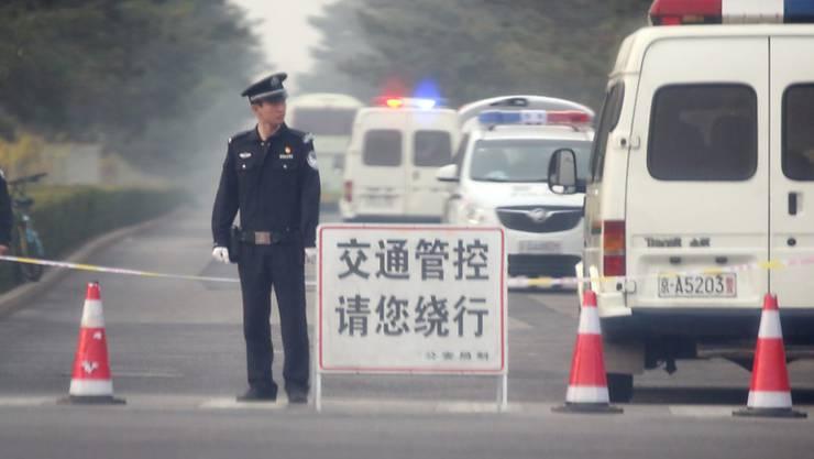 Zeichen verdichten sich auf hohen Besuch: In Peking wurde am Dienstag das Gästehaus für Staatsbesuche von Sicherheitskräften weiträumig abgesperrt.