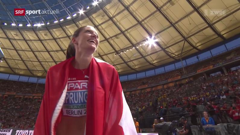 Leichtathletik -  Sprunger holt als erste Schweizerin EM-Gold