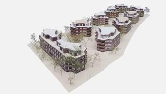 So könnte die neue Siedlung der Milchbuck-Genossenschaft dereinst aussehen.