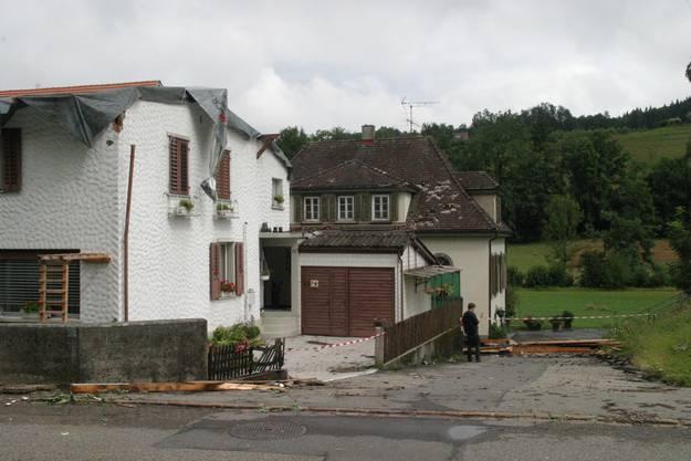Das Einfamilienhaus in Zofingen wurde stark beschädigt