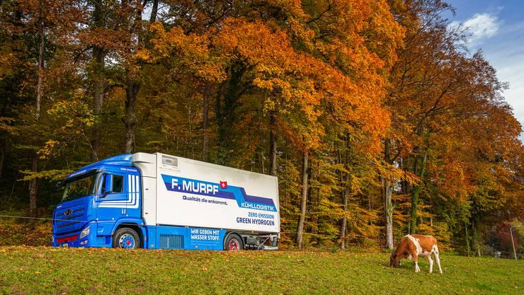 Sowohl die F. Murpf AG als auch die G. Leclerc Transport AG haben sich ein Wasserstoff-LKW angeschafft. Der Antrieb ist komplett emissionsfrei.