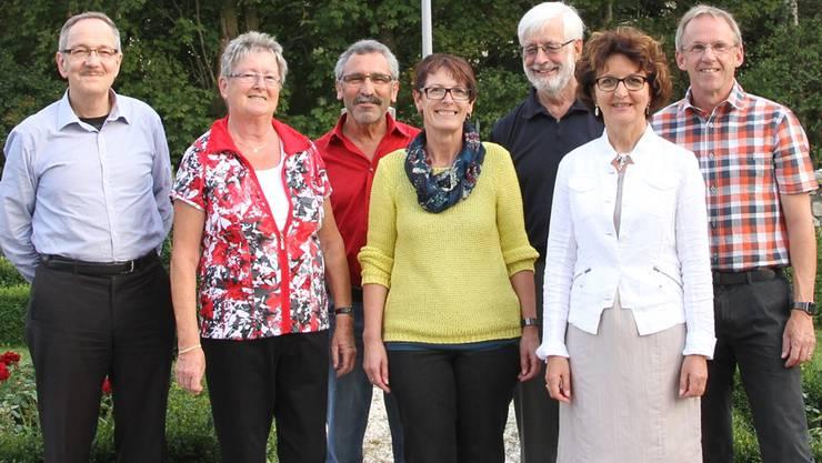 Der Vorstand vom Verein Aktives Alter Egerkingen (v.l.): Bruno von Arx, Margrith Schmidt, Peter Annaheim, Therese Probst, Peter Staub, Marianne Ulrich und Bruno von Rohr zvg