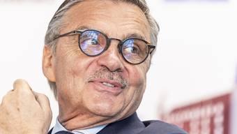 IIHF-Präsident René Fasel und seine Kollegen diskutieren über Minsk als Austragungsort für die WM 2021. (Archivaufnahme)