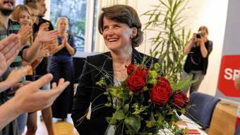 SP-Regierungskandidatin Kathrin Schweizer wird am Nominationsparteitag Ende Juni in Liestal gefeiert. Heute Samstag verabschieden die Baselbieter Sozialdemokraten an der Delegiertenversammlung in Pratteln ihr Wahlprogramm.