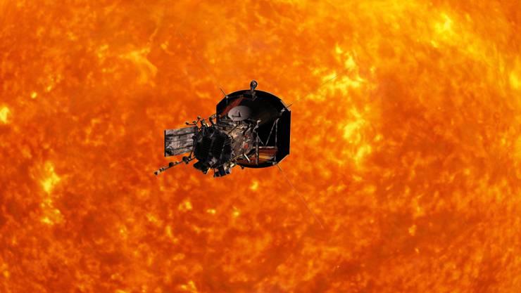 So stellen sich die Wissenschafter den Flug der Sonnen-Sonde vor