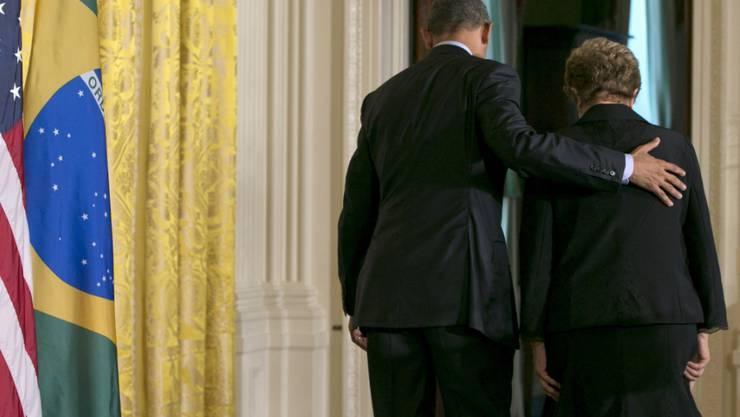 Wollen eine Impfung gegen das Zika-Virus entwickeln lassen: US-Präsident Barack Obama und seine brasilianische Amtskollegin Dilma Rousseff. (Archiv)