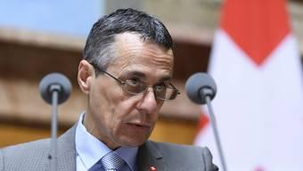 Bundesrat Ignazio Cassis will eine Eskalation mit Russland angesichts der Aktivitäten russischer Agenten im Land vermeiden. (Archivbild)
