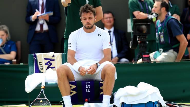 Enttäuscht, aber nicht zu Tode betrübt: Stan Wawrinka scheitert in der zweiten Runde von Wimbledon, zieht aber dennoch ein positives Fazit.