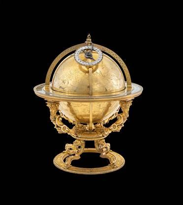 Ein Prunkstück: Vergoldeter Himmelsglobus, hergestellt von Jost Bürgi, 1594.