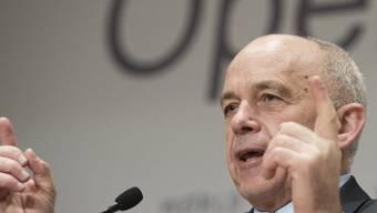Bundespräsident Maurer am WEF 2013 (Archiv)