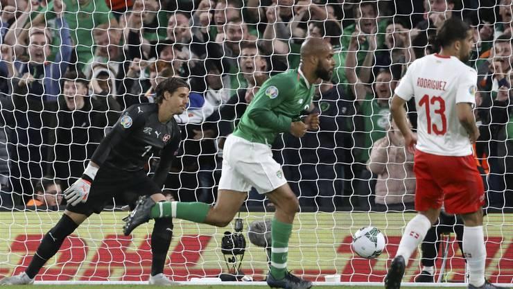 Hier schocken die Iren in ihrem Heimspiel die Schweiz. Am Montag soll Dänemark dasselbe passieren - es könnte bedeuten, dass die Schweiz doch noch Gruppensieger wird.