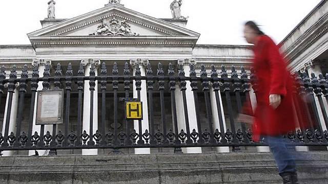 Die Bank of Ireland in der Hauptstadt Dublin