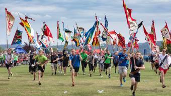 Das letzte Kantonalturnfest fand in Gösgen statt. Hier ein Bild vom Schlusstag.