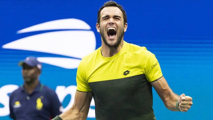 Italiener überrascht in New York: Matteo Berrettini steht am US Open im Halbfinal