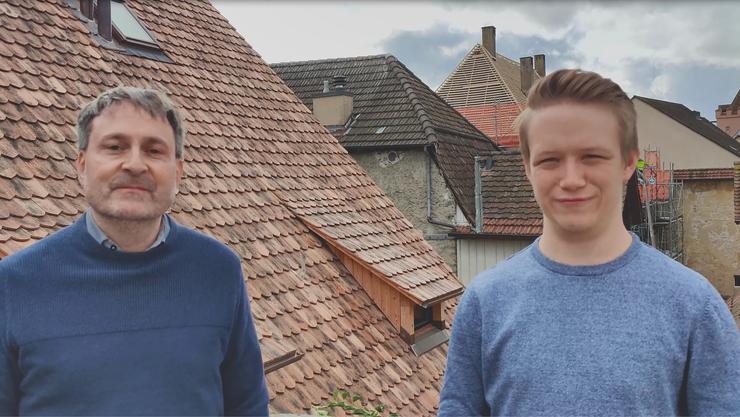 Michael Derrer und Lorenz Camenisch setzen sich für 5G ein