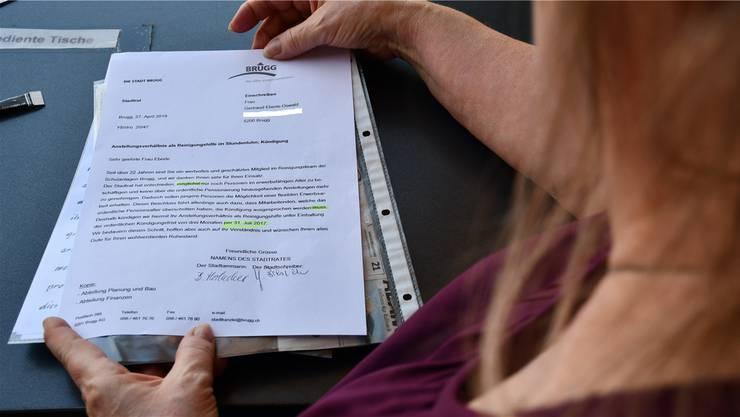 Gertraud Eberle hat die Kündigung zum Gespräch mit der AZ mitgenommen. Ihr Gesicht möchte sie nicht in der Zeitung sehen.