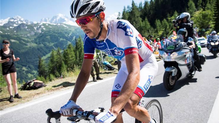 Steve Morabito leistet am diesjährigen Giro d'Italia Helferdienste für seinen Captain Thibaut Pinot.