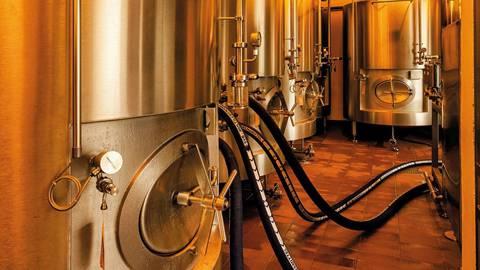 Die neuen Tanks in der Kleinbasler Brauerei von Ueli Bier glänzen noch. Sie wurden letzten Herbst eingebaut. Ralph Dinkel/ZVG