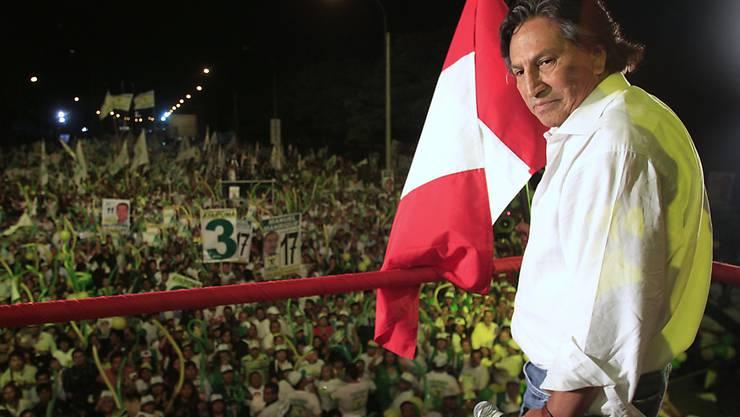 Wurde nach seiner Flucht in den USA festgenommen: der in Peru wegen Korruption angeklagte Ex-Präsident Alejandro Toledo. (Archivbild)