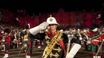 Die Band of Her Majesties Royal Marines bei ihrem Auftritt am Basel Tattoo 2010