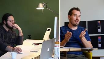 Oliver Studer (l.) und Raphael Oberholzer von Neeo im Solothurner Büro.