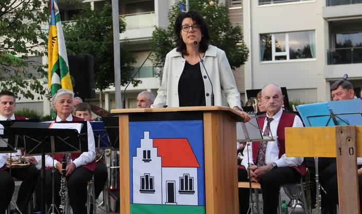Festrednerin Barbara Horlacher.